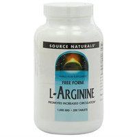 Source Naturals Free Form L-Arginine - 1000 mg - 200 Tablets