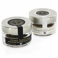 Truffle Mushroom Slices - 100% Italian Air-Dried Gourmet Black Truffles and White Truffles - Set of 2 (0.1oz Jars)