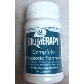 Biotherapy Complete Probiotic Supplement - 25+ Billion CFUs, High Potency, Blend of 12 Probotic Species - 60 Capsules