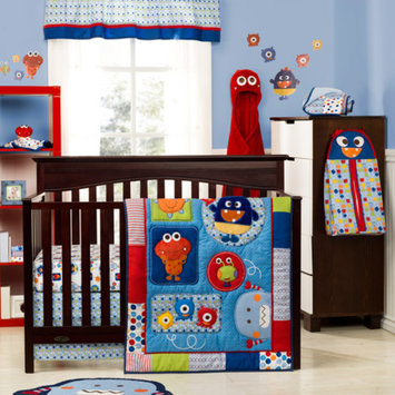 Graco Baby Monsters 3-Piece Crib Bedding Collection Set - Value Bundle