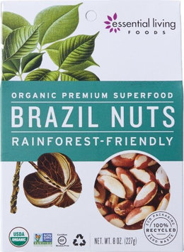 Essential Living Foods Brazil Nuts 8 oz - Vegan