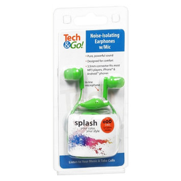 Tech & Go Earphones with Mic
