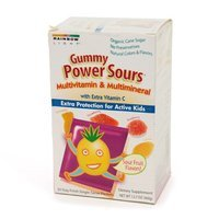 Rainbow Light Gummy Power Sours Multivitamin with Extra Vitamin C for Active Kids