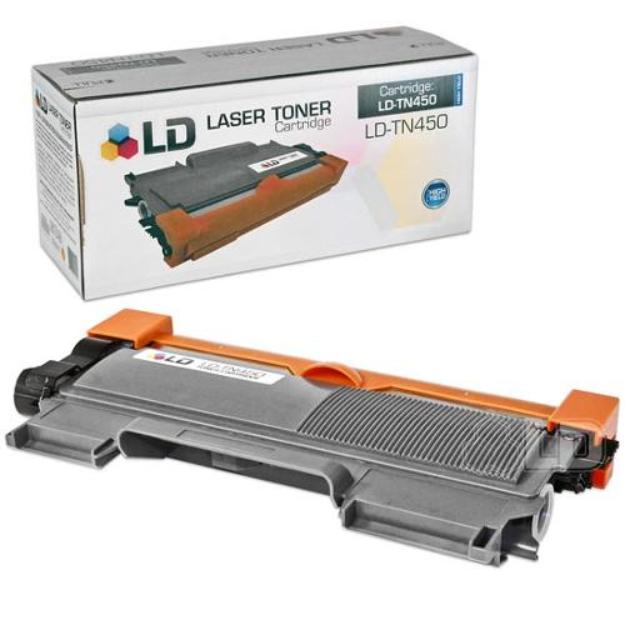 LD Compatible HY Black Laser Toner Cartridge for Brother TN450 for the DCP-7060D, 7065DN, HL-2130, 2132, 2230, 2240, 2240D, 2242D, 2250DN, 2270DW, 2280DW, Intellifax 2840, 2940, MFC-7240, 7360N,7460DN