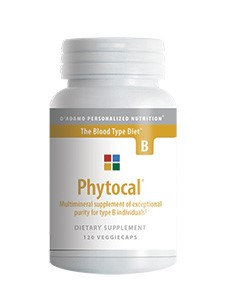 D'Adamo Personalized Nutrition Phytocal Mineral Formula (Type B) 120vc