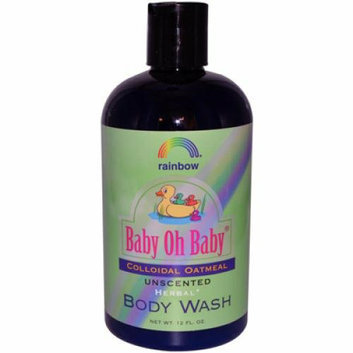 Rainbow Research Baby Oh Baby Organic Herbal Wash Colloidal Oatmeal Unscented 12 fl oz