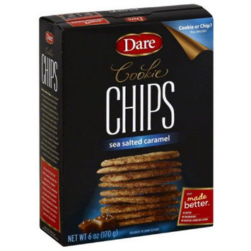 Dare Sea Salted Caramel Cookie Chips, 6 oz, (Pack of 12)