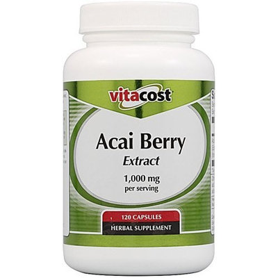 Vitacost Brand Vitacost Acai Berry Extract -- 1000 mg per serving- 120 Capsules