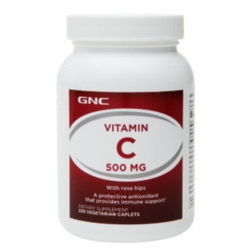 GNC Vitamin C 500 mg with Rose Hips, Tablets, 250 ea