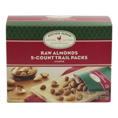 Archer Farms Raw Almonds Trail Packs, 5 - 1.5 oz. pouches