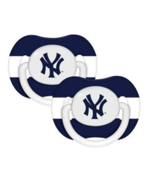 Baby Fanatic MLB 2-Pack Baby Pacifiers - New York Yankees