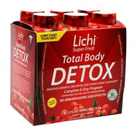Lichi Super Fruit Total Body Detox, Aloe Vera Cleanse, 6-Count Package