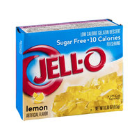 Jell-O Lemon Flavor Sugar Free Low Calorie Gelatin Dessert