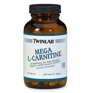 Twinlab Mega L-Carnitine Free Form Amino Acid