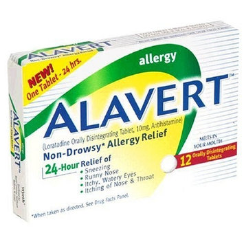 Alavert Non Drowsy 24-Hour Allergy Relief, Disintegrating Tablets - 12 CT