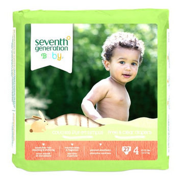 Seventh Generation Baby Free & Clear Diapers, 4, 108 ea
