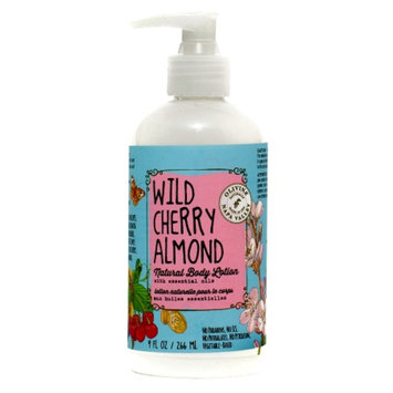 Olivina Natural Body Lotion, Wild Cherry Almond, 9 fl oz