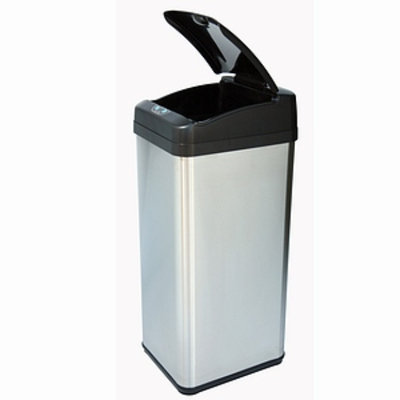 iTouchless 13 Gallon Square Extra-Wide Opening Touchless Trash Can