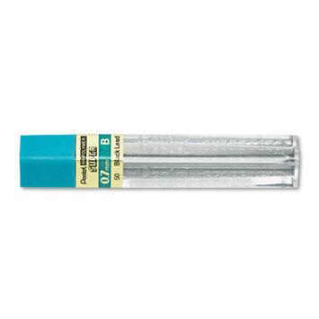 Pentel Super Hi-Polymer Lead Refills, 0.7mm, B, Black