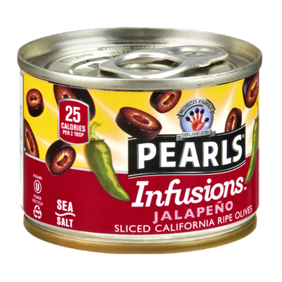 Musco Family Olive Co. Pearls Infusions Jalapeno Sliced California Ripe Olives