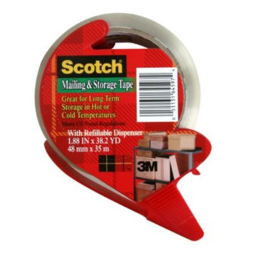 3m 3M MMM3650SRD Scotch Mailing & Storage Tape With Dispenser