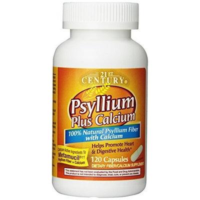 21st Century Psyllium Plus Calcium, 120 Capsules
