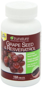 trunature Grape Seed & Resveratrol, with Vitamin C, 150 tablets, One per day