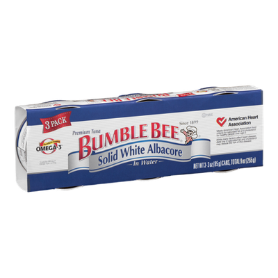 Bumble Bee Solid White Albacore in Water - 3 CT