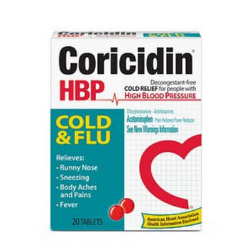 Coricidin HBP Cold & Flu for People with High Blood Pressure
