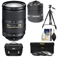 Nikon 18-300mm f/3.5-5.6G VR DX ED AF-S Nikkor-Zoom Lens with 3 (UV/ND8/CPL) Filters + Case + Tripod + Kit for D3100, D3200, D3300, D5100, D5200, D5300, D7000, D7100 DSLR Cameras