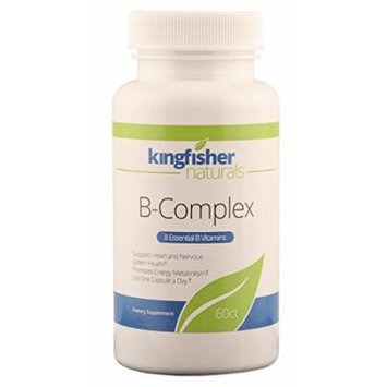 B-Complex: 8 Essential B Vitamins, Supports Heart/Nervous System Health - 1 A Day (60 CT)