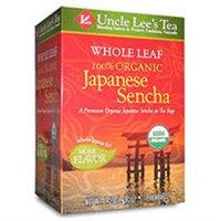 Uncle Lees Tea Uncle Lee's Tea Whole Leaf 100% Organic Tea (Japanese Sencha)- 18 Teabags