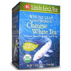 Uncle Lees Tea Uncle Lee's Tea Whole Leaf 100% Organic Chinese White Tea - 18 Teabags