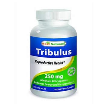 #1 Tribulus 250 mg 180 Capsules by Best Naturals - Manufactured in a USA Based GMP Certified Facility and Third Party Tested for Purity. Guaranteed!!