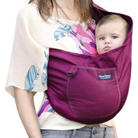 Karma Baby Organic Cotton Twill Sling Carrier - Plum - Extra Small