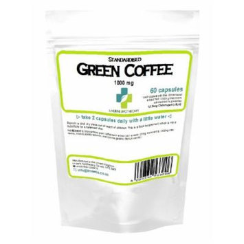 Lindens Green Coffee 1000mg, great for healthy, natural weight loss - 60 capsules