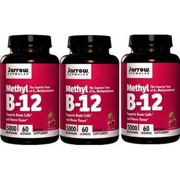 Jarrow Formulas Methyl B12, Methylcobalamin (60 x 3)