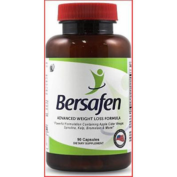 BEST Natural Fat Burner & Appetite Suppressant , Extreme Fat Burning Ingredients , Energy Booster , Powerful Weight Loss Supplement , Works For Men & Women (30 Day Supply of Bersafen)