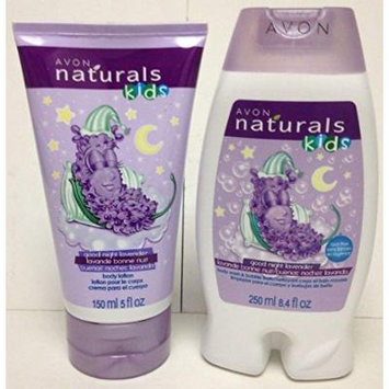 Avon Naturals Kids Good Night Lavender Body Lotion/ Body Wash & Buble Bath Set