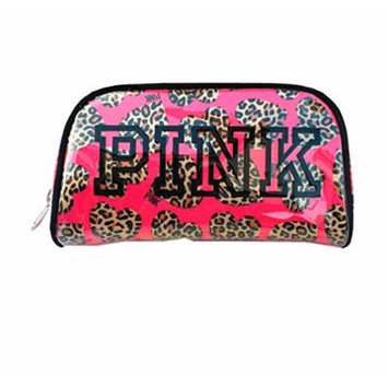 Victoria's Secret Pink for Women Makeup Bag,vs Pink Love Leopard Cosmetic Bag