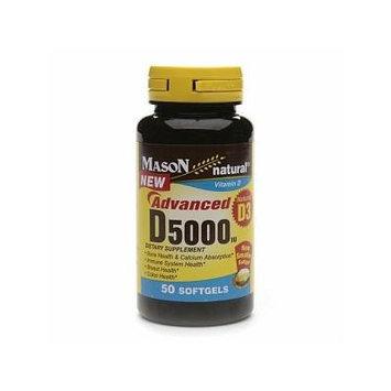 Mason Natural Vitamin D3, 5000 IU, Softgels 50 ea