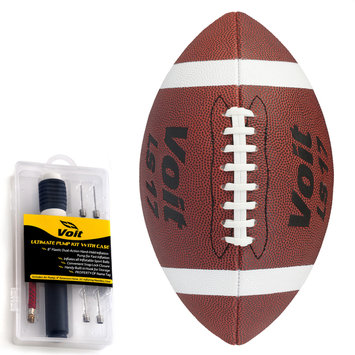 Lion Sports Inc. Official Synthetic Sponge Football with Ultimate Inflating Kit