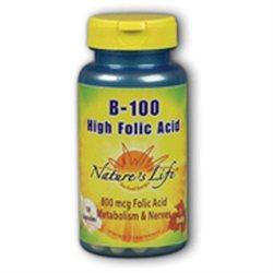 Nature's Life B-100 High Folic Acid - 50 Capsules