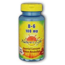 Nature's Life Vitamin B-6 - 100 mg - 100 Tablets