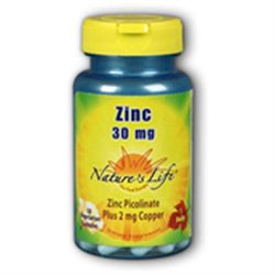 Zinc 30mg Picolinate Nature's Life 50 Caps