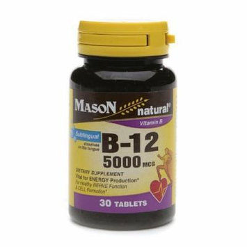 Mason Natural Vitamin B-12, 5000mcg, Sublingual Tablets 30 ea
