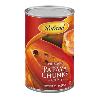 Roland Premium Papaya Chunks in Light Syrup