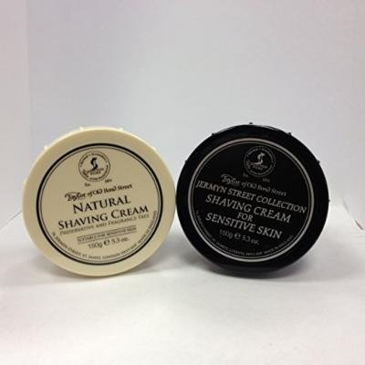 Taylor of Old Bond Street Shave Cream -- 2 Pack 5.3 0z Each Choose Your Scents! (Natural and Jermyn Street Sensitive Skin)