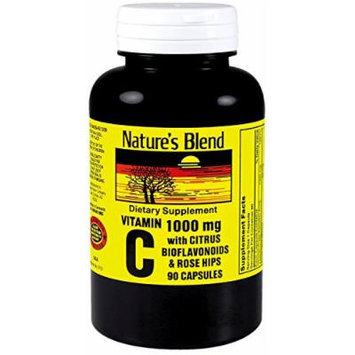 Nature's Blend Vitamin C with Citric Bioflavonoids & Rose Hips 90 Count Pack of 2