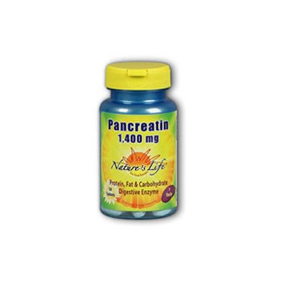 Nature's Life Pancreatin 1400 MG - 100 Tablets - Enzymes